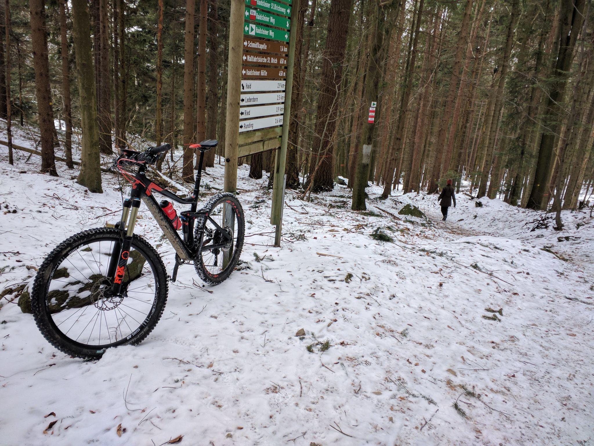 Trail vom Haidstein in Richtung Runding