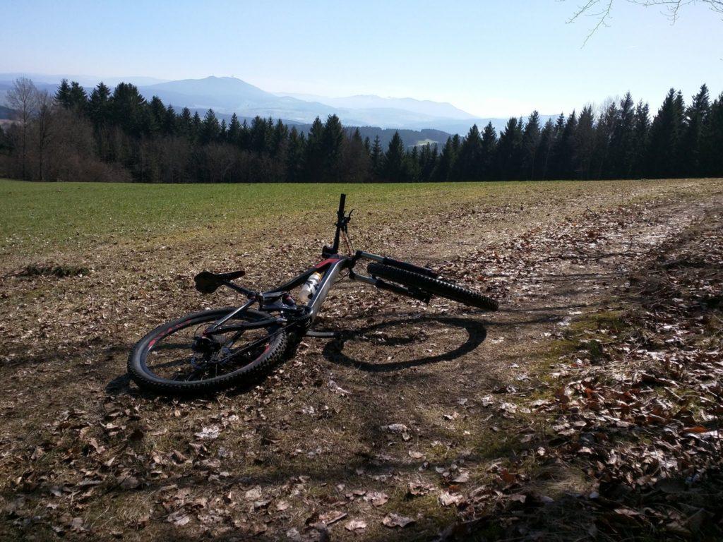 Blick von Lengau aus auf den Bayerischen Wald