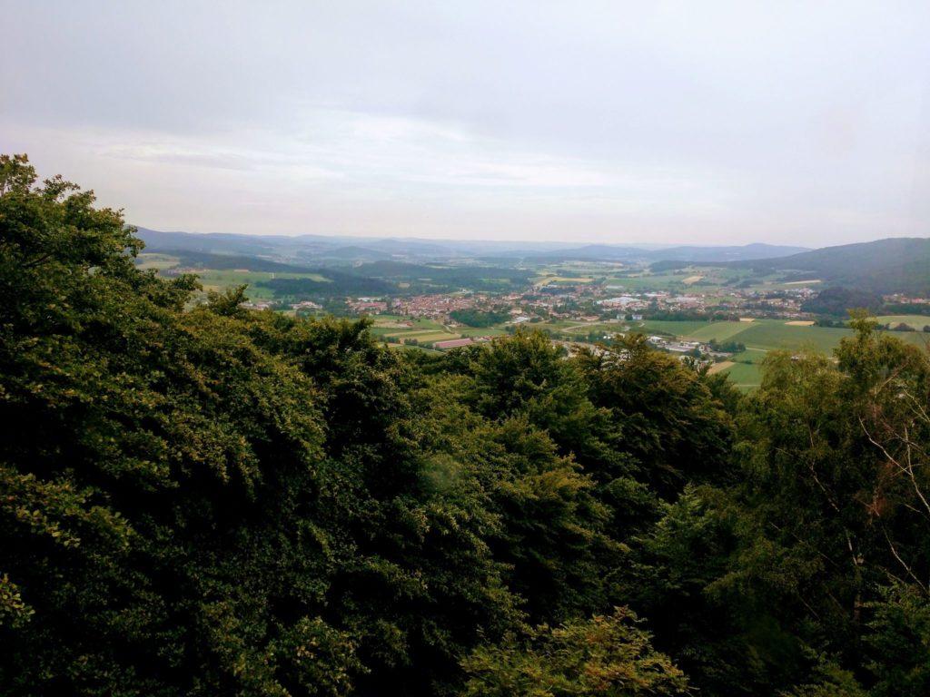 Blick von der Bayernwarte auf dem Dieberg