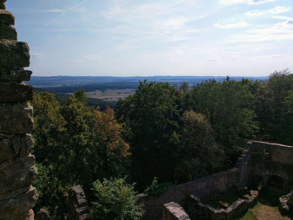 Trans Bayerwald - Blick von der Kürnburg ins Regental