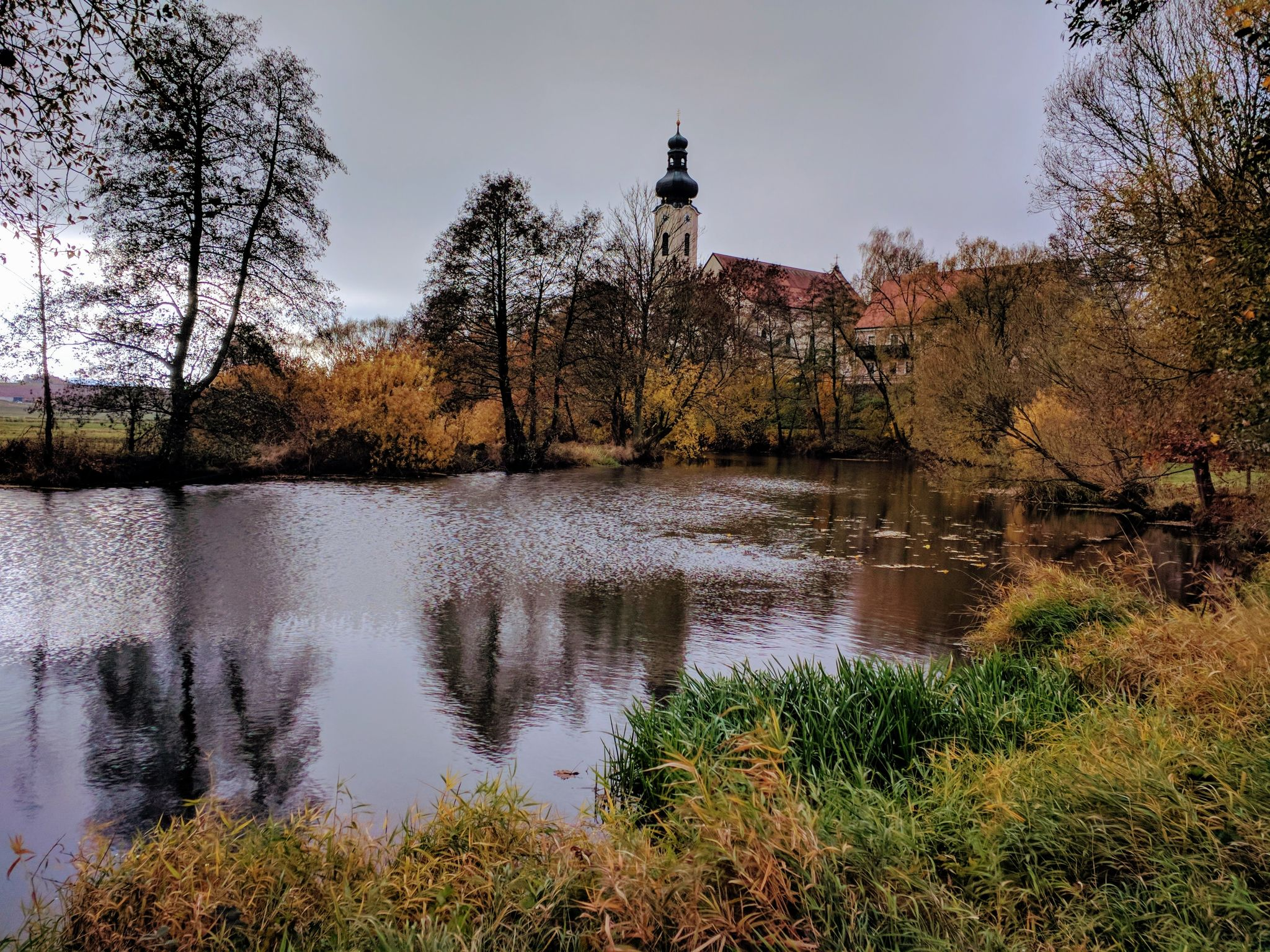 Blick auf die Kirche St. Martin in Arnschwang