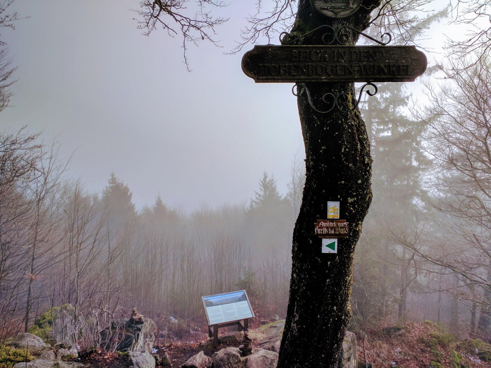 Der Ausblick nach Furth im Wald war heute nicht so gut.