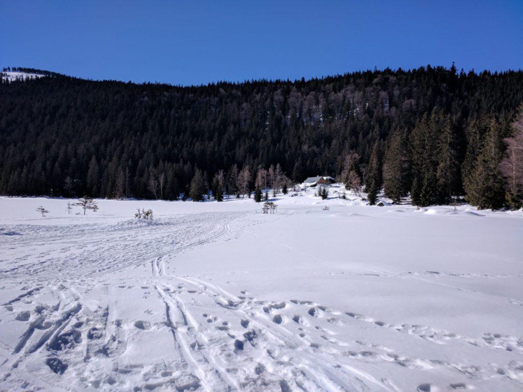 Der Kleine Arbersee im Winter