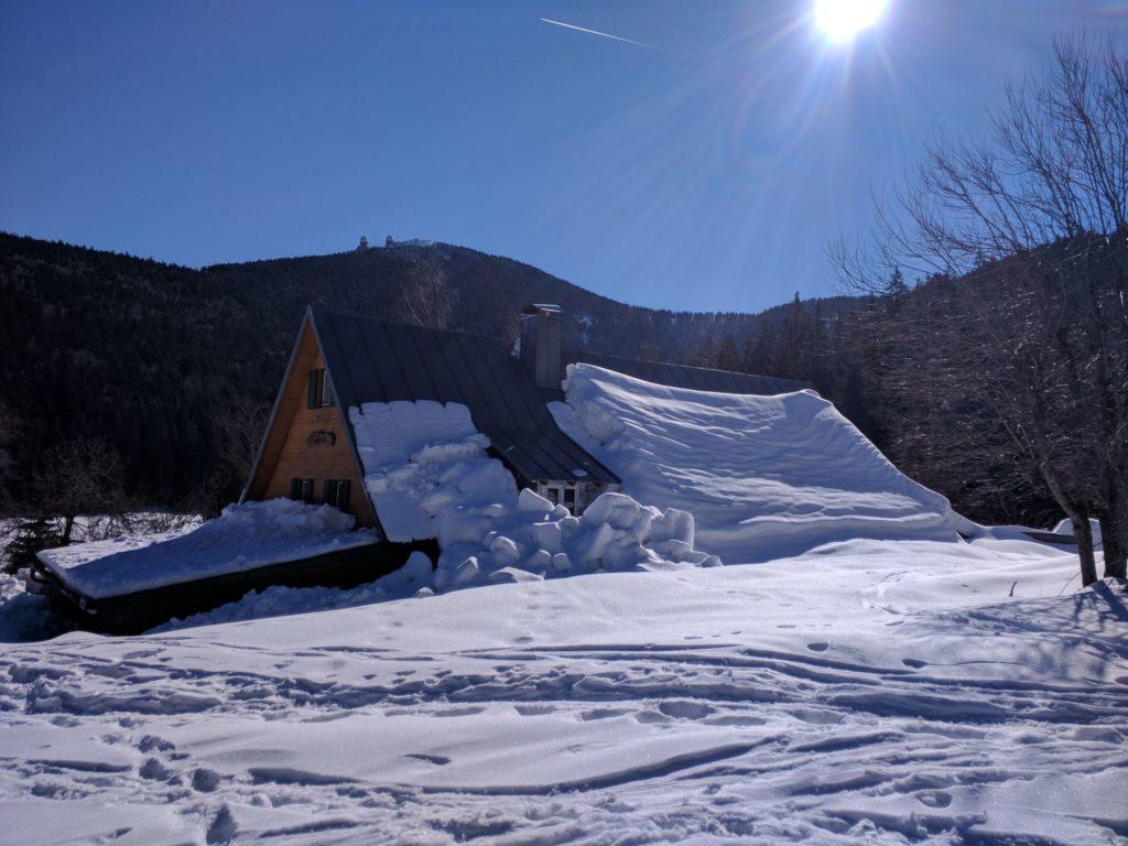 Seehütte am Kleinen Arberse im Winter