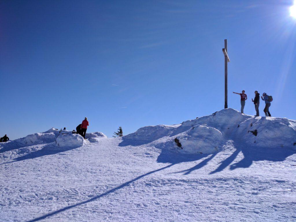 Gipfelkreuz des Großen Arbers im Winter