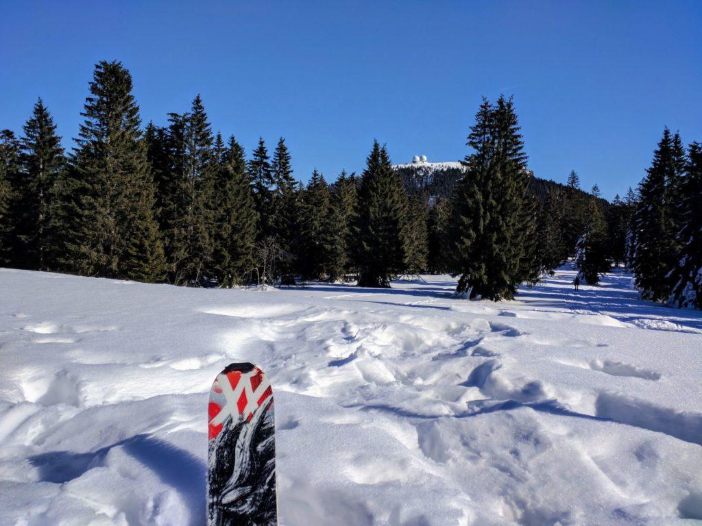 Blick zum Großen Arber im Winter