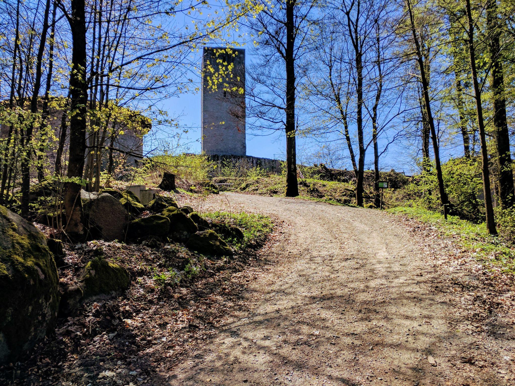 Anstieg zur Schwarzenburg