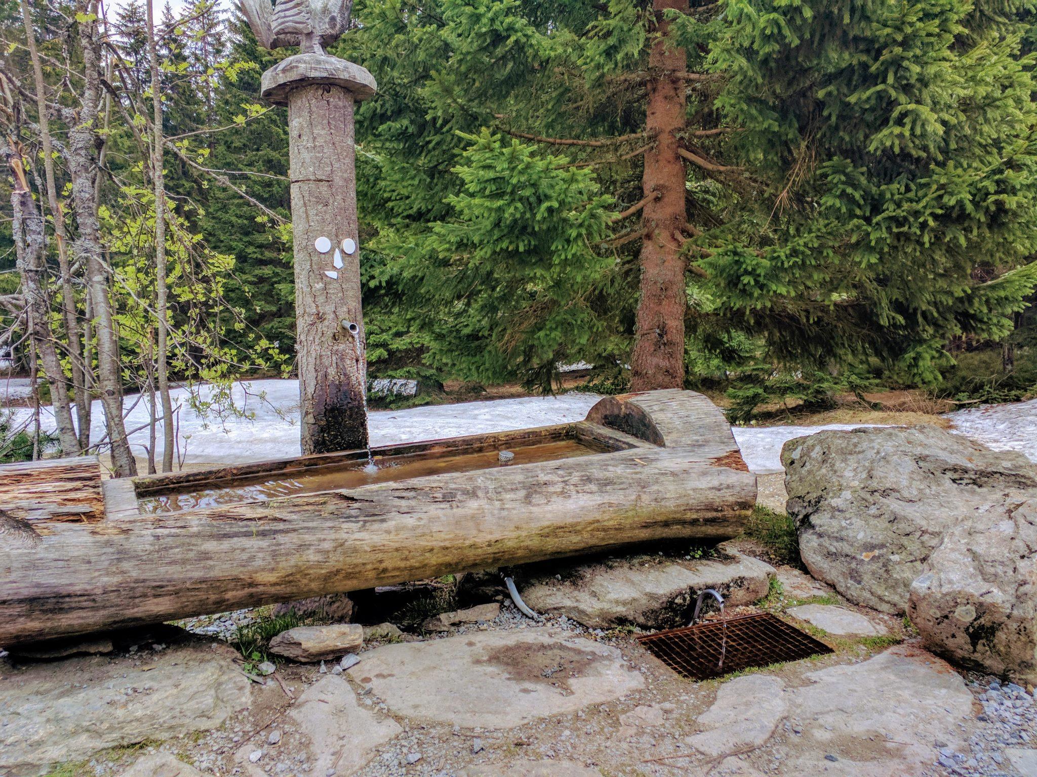 Brunnen an der Chamer Hütte