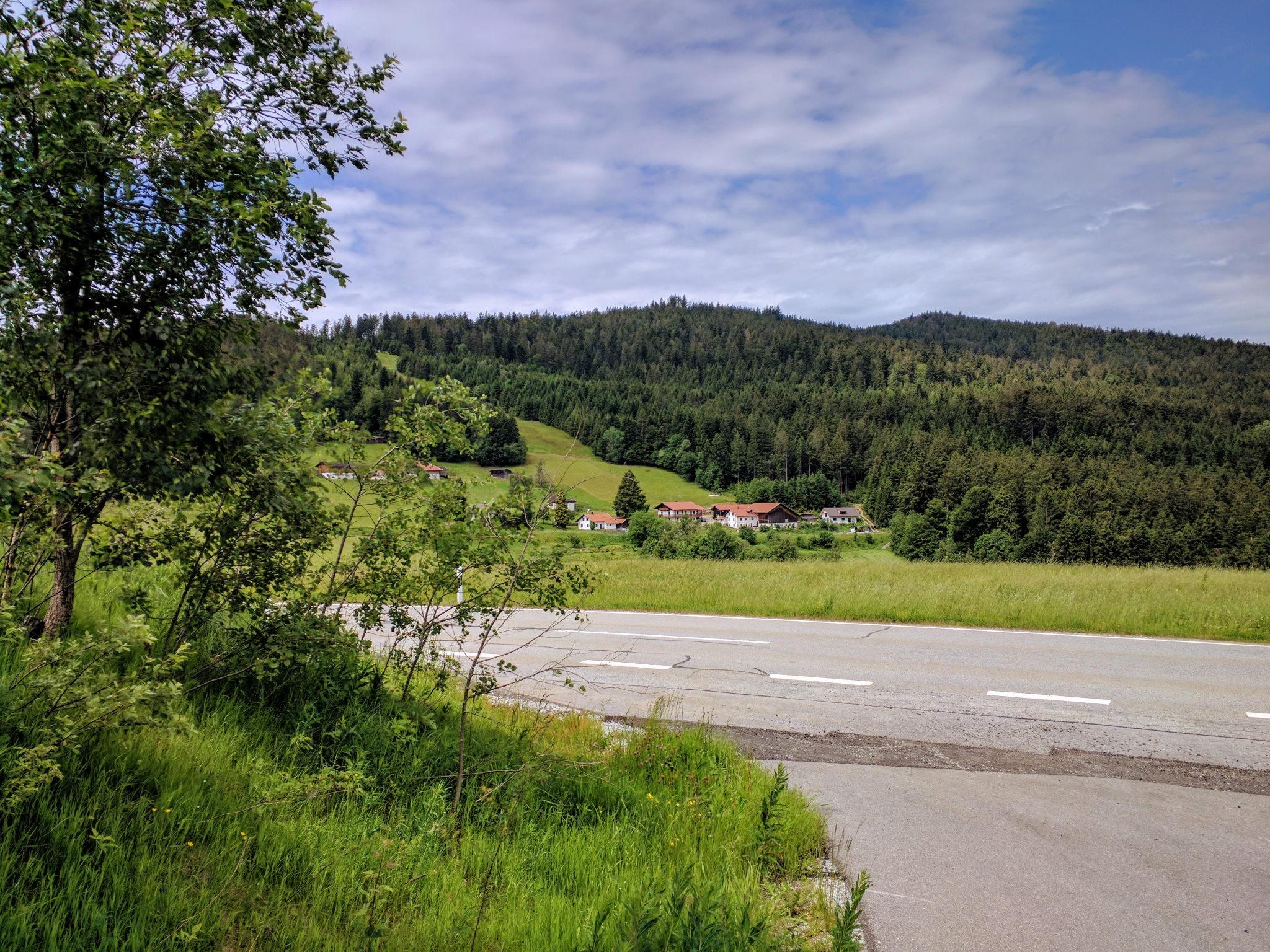 Rückblick auf den Hirschenstein von Grün aus
