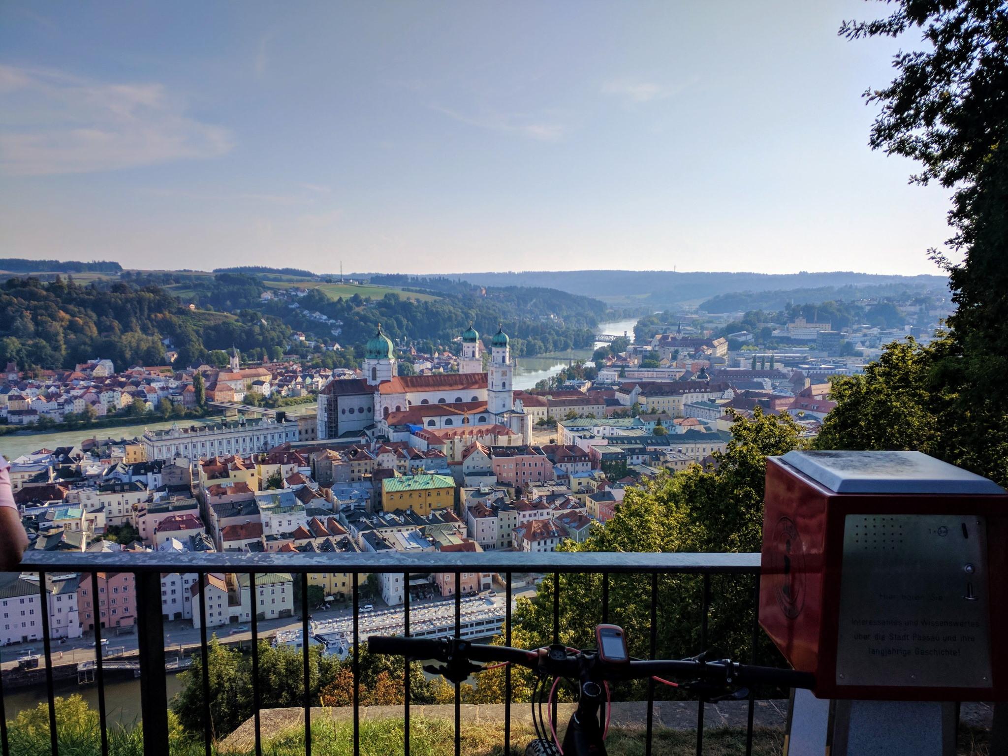 Trans Bayerwald - Blick auf Passau von der Veste Oberhaus