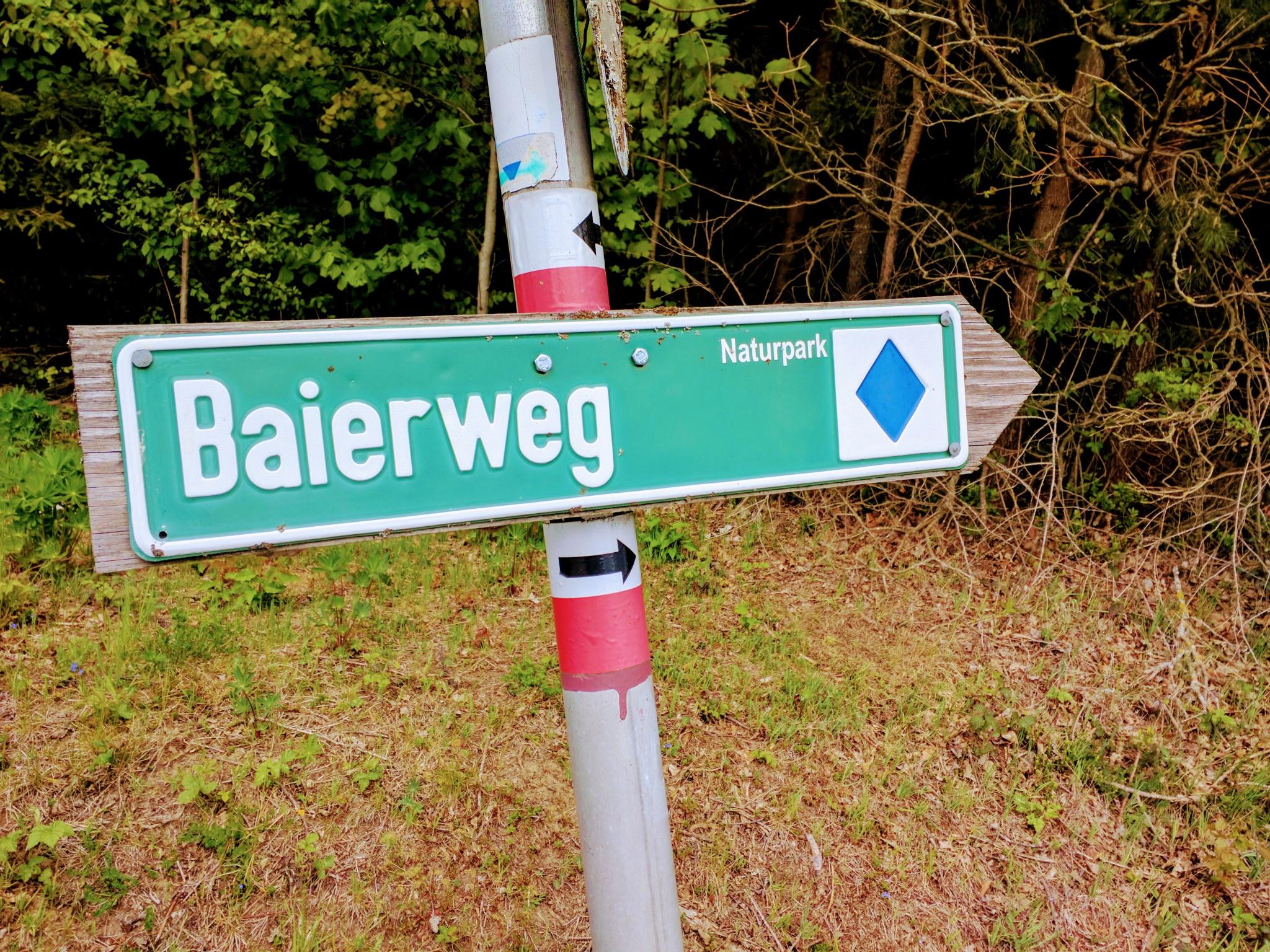 Wegweiser Baierweg