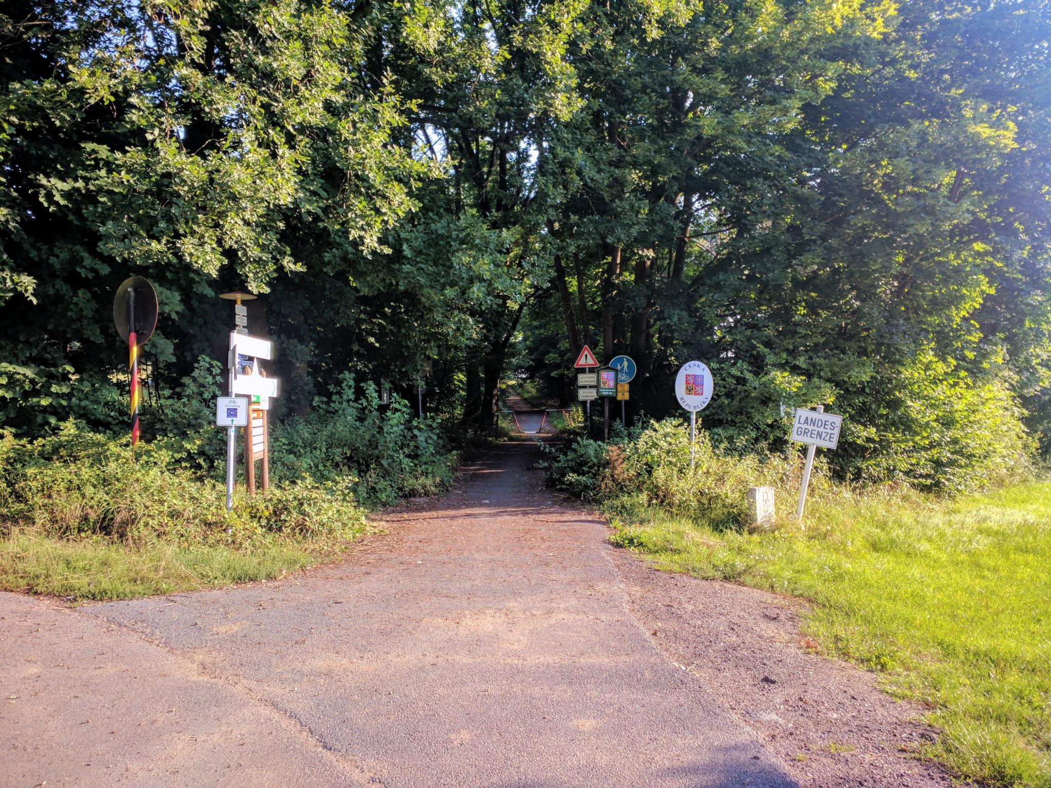 Grenzübergang für Fußgänger und Radfahrer bei Furth im Wald