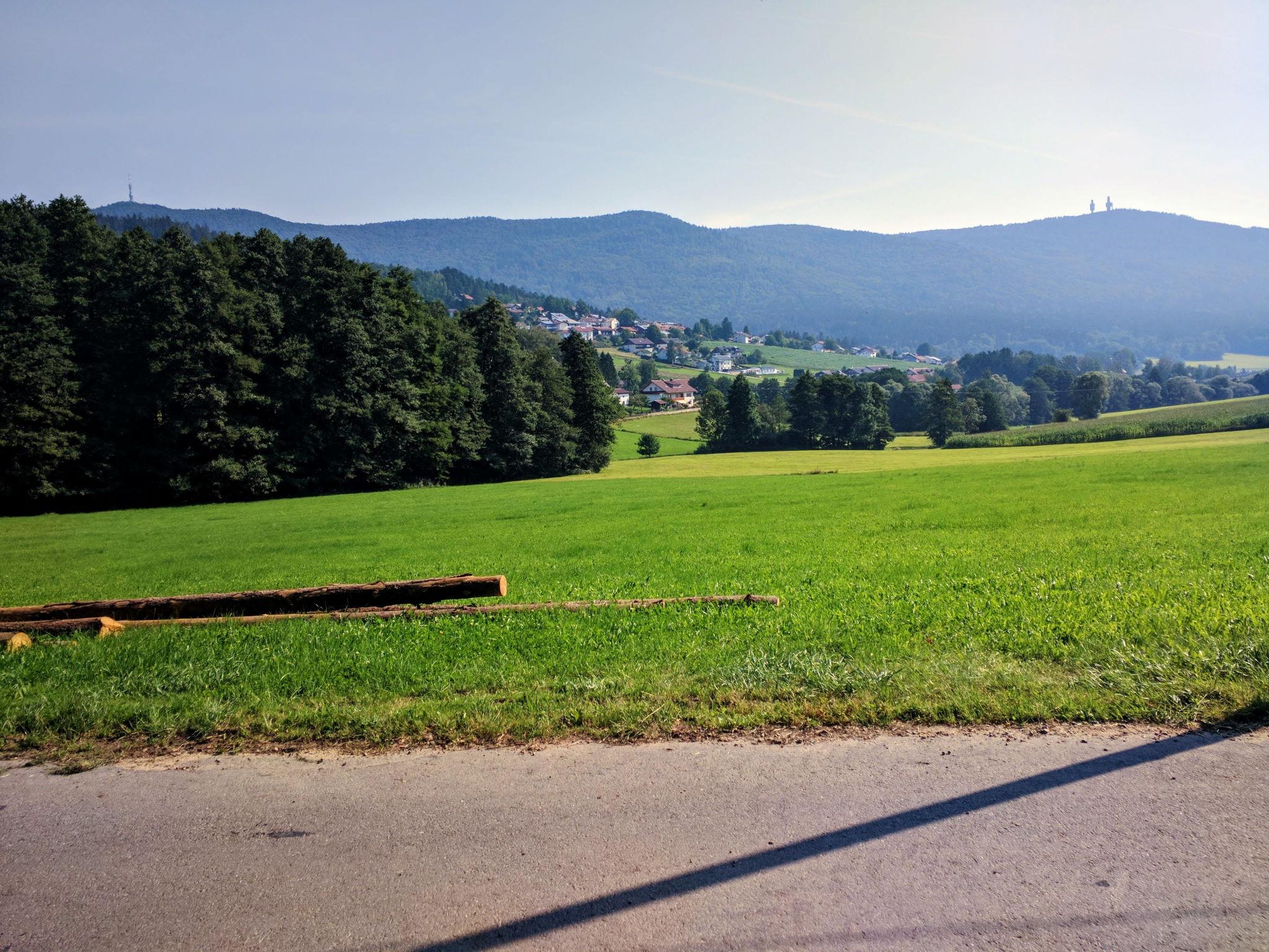 Blick auf Rimbach und den Hohen Bogen