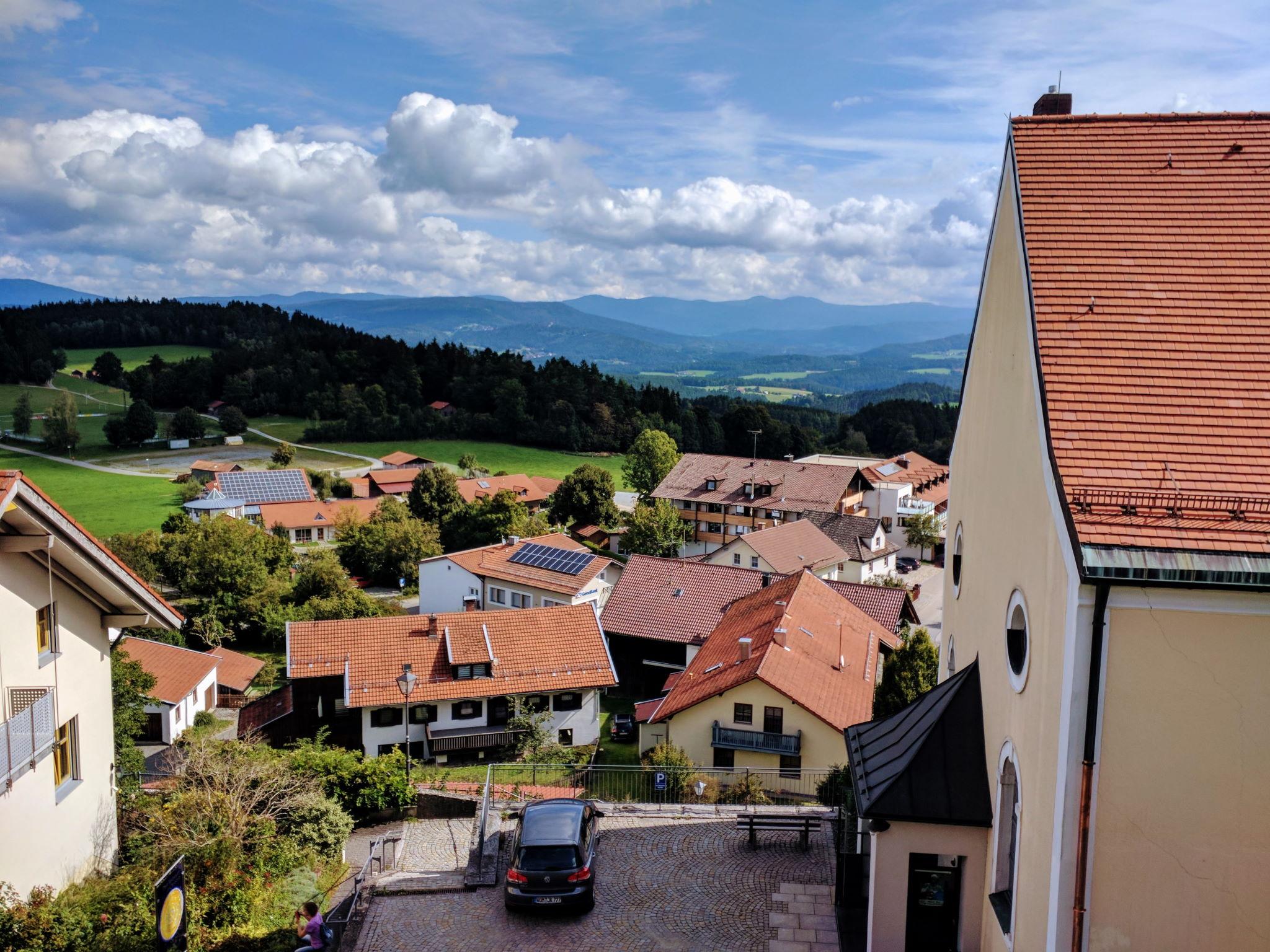 Blick von der Burgruine Kollnburg