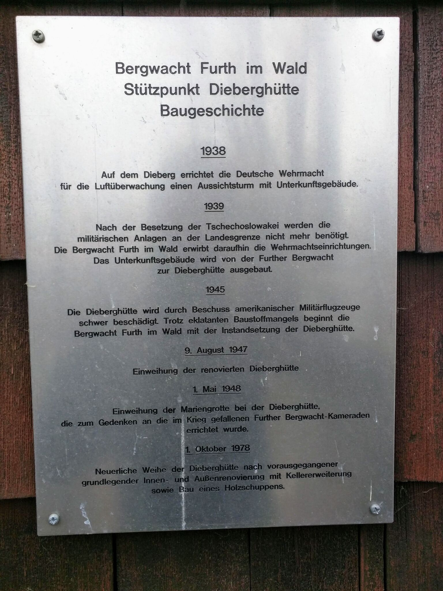 Geschicht der Dieberghütte